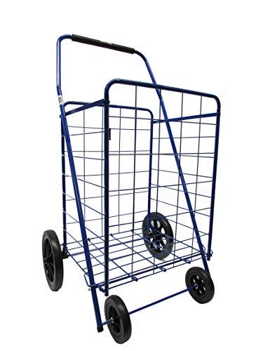 2afce8c21703 GNA Foldable Shopping Carts (Large, Blue)
