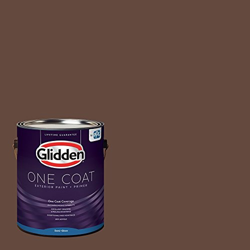 Glidden Exterior Paint + Primer: Brown/Fudge, One Coat, Semi-Gloss, 1-Gallon