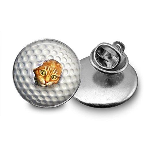 Golf Ball Ripped by Cat Tie Tack 18mm custom - Golf Tac Pins