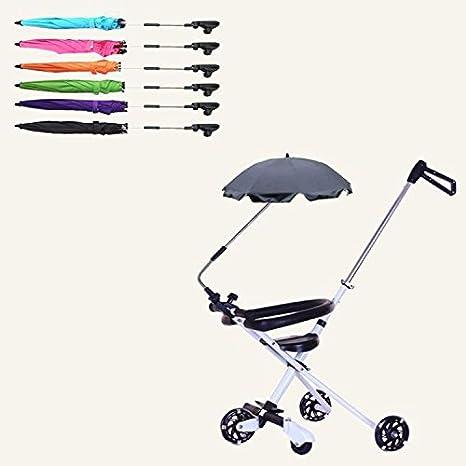 Emsems Paraguas de coche desmontable, silla de paseo ajustable para bebés Sombrilla de cochecito Parasol