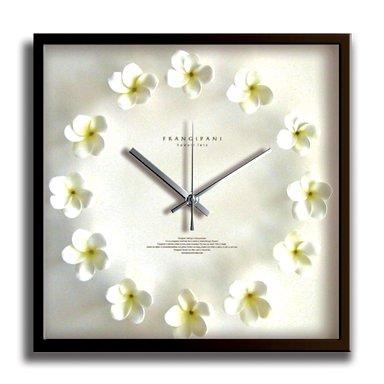 《掛時計》Plumeria Clock White(プルメリアクロック/ホワイト) B001P7HA32