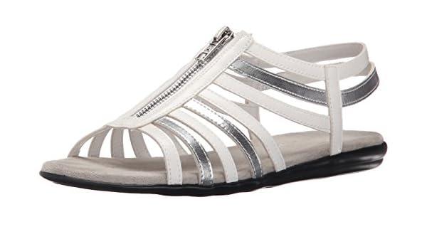 Aerosoles Women's Chlothesline Huarache Sandal,White,5 M US