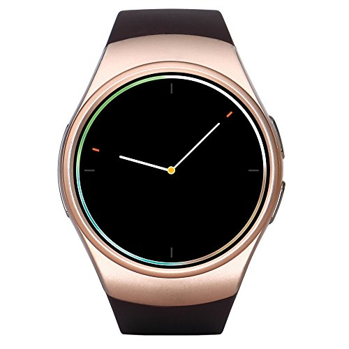 KW18 Smart Watch Bluetooth Heart Rate Monitor Intelligent Smartwatch Support SIM TF Card for Apple Samsung Phone (golden)