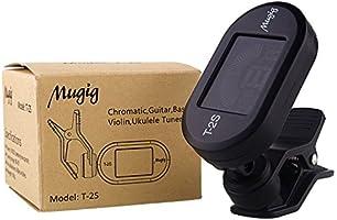 Mugig Afinador Clip para Guitarra Eléctrica Bajo Violín Ukulele Modos Cromáticos con 360° Gran Full Pantalla Colorida Digital Electrónica Batería Incluida (Negro): Amazon.es: Instrumentos musicales