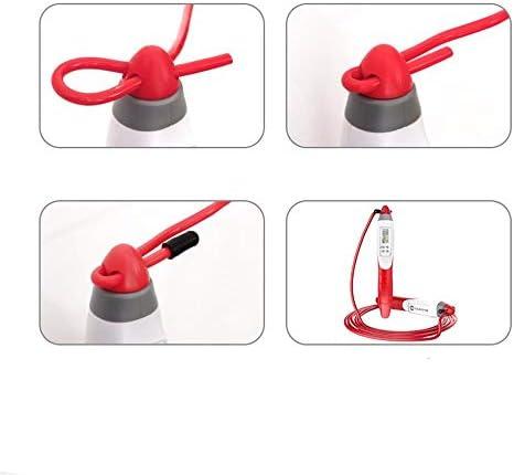 縄跳び フィットネスワークアウト脂肪燃焼運動とボクシング3Mに適したユニセックスカウントプロフェッショナル縄跳び調整可能なソフト 家庭の屋外使用に適しています (Color : Black, Size : Rope length 3m)