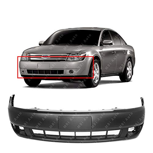 Taurus Ford Aftermarket (MBI AUTO - Primered, Front Bumper Cover Fascia Replacement for 2008 2009 Ford Taurus 08 09, FO1000620)
