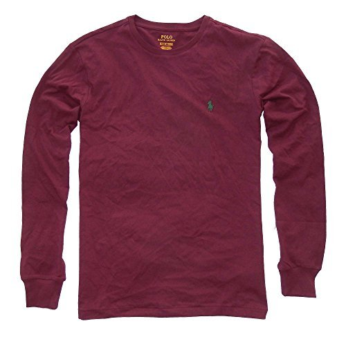 Polo Ralph Lauren Men Long Sleeve Pony Logo T-Shirt (XX-Large, Classic Wine)
