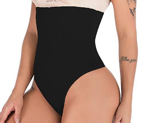 Hioffer 328 Women Waist Cincher Girdle Tummy Slimmer Sexy Thong Panty Shapewear, Black, X-Small/Small (Waist 22
