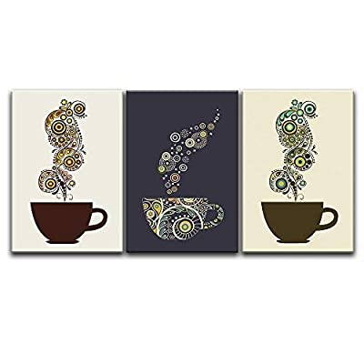 3 Panel Coffee Cups with Abstract Floral Patterns...16