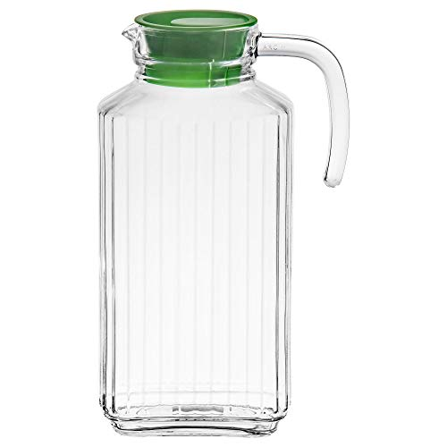Farm Pitcher (IKEA. Farlig 57 Ounce Glass Pitcher with Lid 802.398.75, Clear)