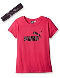 PUMA Girls' Tee with Head Band