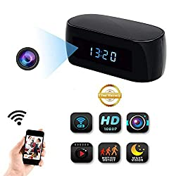 WiFi Hidden Camera Desk Table Clock Spy Camera XDMYWH HD 1080P Security Camera Wireless Nanny Cam with Motion Detection for Office Home Security