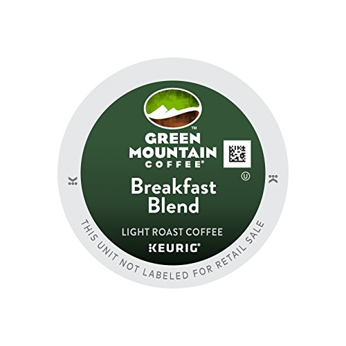 Green Mountain Coffee Keurig Single-Serve K-Cup Pods, Breakfast Blend Light Roast Coffee, 12 Count (pack of 6)