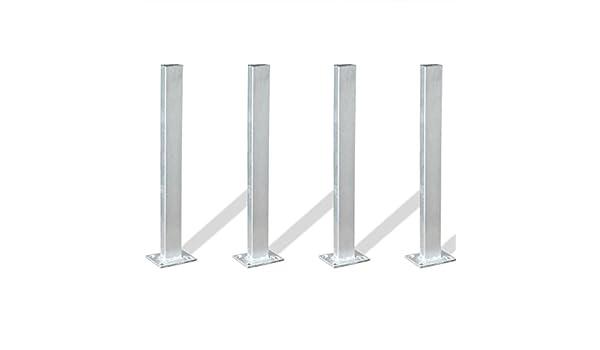 Festnight - Soporte para postes de valla (4 unidades, 40 cm, acero): Amazon.es: Hogar
