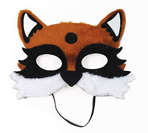 Childs Animal Critter Forest Fox Half Mask Costume Accessory