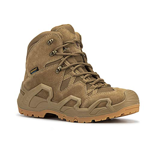 ROCKROOSTER – Walland Men 6'' Lightweight Trekking Military Waterproof Rubber Outsole Backpacking Hiking Boots Outdoor Boots KS535-KS537