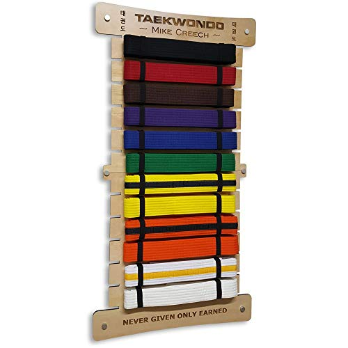 RenKata 12 Level Taekwondo Belt Display