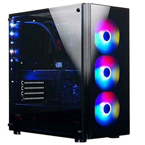 XOTIC V200 Extreme (Intel 9th Gen i9-9900K 8-core 5.0GHz Turbo, 16GB DDR4 RAM, 500GB NVMe SSD + 2TB HDD, RTX 2070 Super 8GB, Windows 10) Liquid Cooled VR Ready Gaming Desktop PC