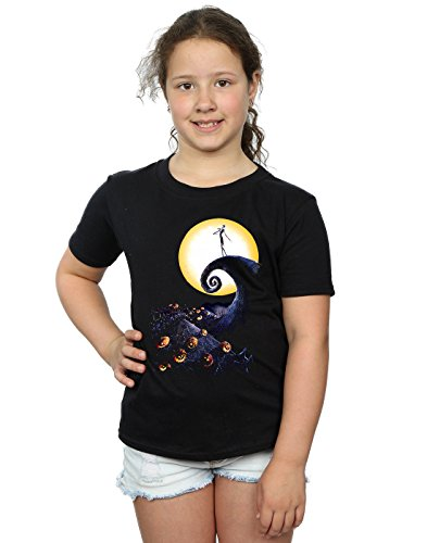 Disney Girls Nightmare Before Christmas Cemetery T-Shirt 7-8 Years Black