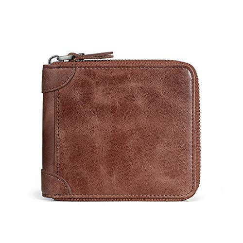 En Homme Multifonctionnel brown Cuir Portefeuille Red color Pour Sixminyo Brown TFwSHqf