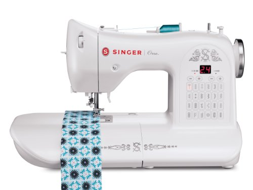 SINGER | ONE Vintage-Style Computerized Sewing Machine including 24 Built-in Stitches, Automatic Needle Threader, Extra-Large Sewing Space, Drop & Sew Bobbin System, Best Sewing Machine for Beginners