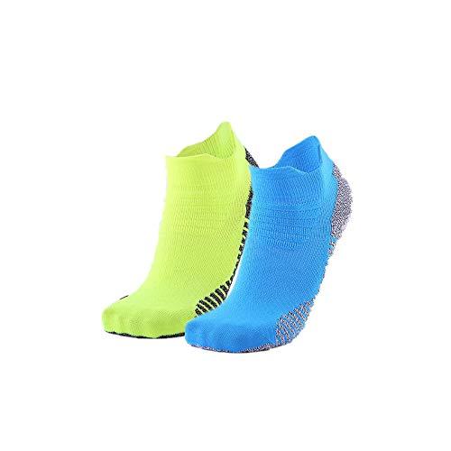 Athletic Socks 2 Pairs No Show Sport Socks Workout Runnning Socks for Men Women (Blue,Green)