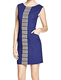 Womens Embroidered Quilted Semi-Formal Dress