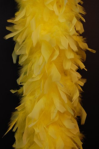 Cynthia's Feathers 80g Chandelle Feather Boa (Yellow)
