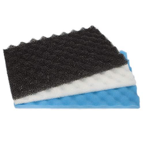 LTWHOME Fish Pond Foam Filter Sponge Set 17″ X 11″ 3 Grade Media (Pack of 1 Set)