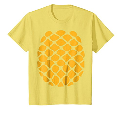 Kids Pineapple Costume T-Shirt - Easy Cheap Halloween Costume 12 Lemon