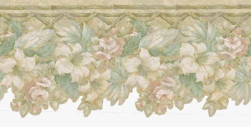 Brewster 418B086 Vintage Legacy III Lily Trail Die-Cut Wall Border, 9-Inch by 180-Inch (Die Cut Wall Border)