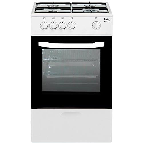 BEKO CG-41009 D Cocina CSG42009DW 4F Horno Gas BUTANOq, Negro a buen precio