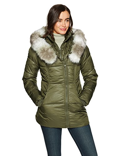 Hood Vest Coat Women's 6 Inner Heavyweight and Olive with Oversized Celsius Wellon qYzdwzt
