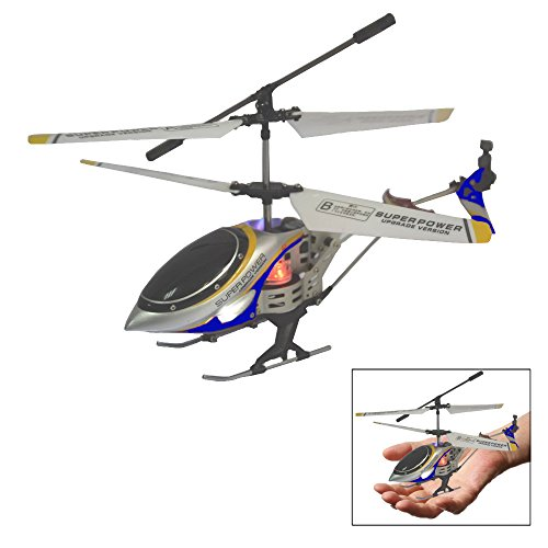 (Christmas Helicopter Gift - Mini Alloy Design RC Battery Operated Blue Remote Controlled Helicopter - Parties, Holidays, Presents, Outdoor/Indoor Sports, Family Fun)