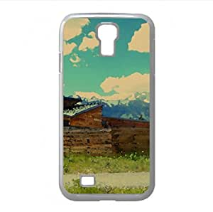 lintao diy Scenic House Watercolor style Cover Samsung Galaxy S4 I9500 Case (Landscape Watercolor style Cover Samsung Galaxy S4 I9500 Case)