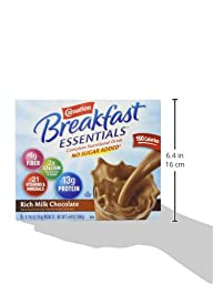 Carnation Instant Breakfast No Sugar Added, Chocolate, 20g, 8 Count