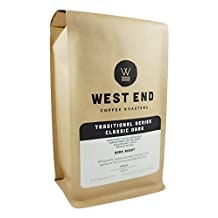 West End Coffee Roasters, Classic Dark Roast, Dark Roast, Ground, 284g, Our #2 Best Selling Drip in 2016
