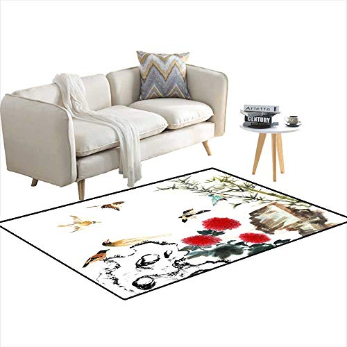 - Area Rugs for Bedroom View of Traditional China-Bamboo anstone 55