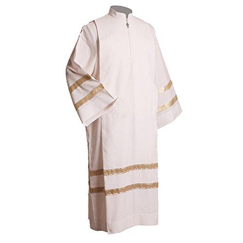 - BLESSUME Church Worship ALB Vestments Robe White