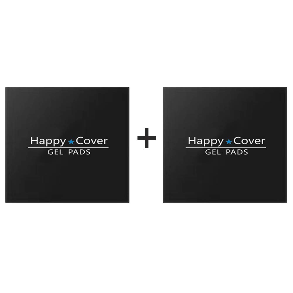 HappyCover Premium Fixate Rubber Pads,Multi-Purpose Nano Gel Pads Washable and Reused,Sticky Cell Phone Holder for Car,Amazing Magic Sticker,Universal Non-Slip Mat Black Circle
