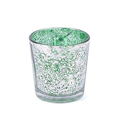358647ccc66 Buy Silver Scratched Green Glass Votive Candle Holder by Deco Dreamz Online  at Low Prices in India - Amazon.in