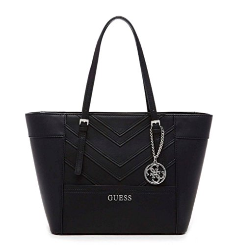 GUESS Women's Delaney Small Classic Tote Black 15 W x 10 H x 5.5 D Inches