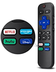 LOUTOC Universal for Roku TV Remote,Replacement for TCL/Hisense/Sharp Roku TV,TV Remote with Netflix Disney+/Hulu/Prime Video Buttons