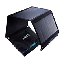 Anker PowerPort Solar (21W Dual-Port USB Solar Charger) for iPhone 7 / 6s / 6 / Plus, iPad Air 2 / mini 3, Galaxy S6 / Edge / Plus and More