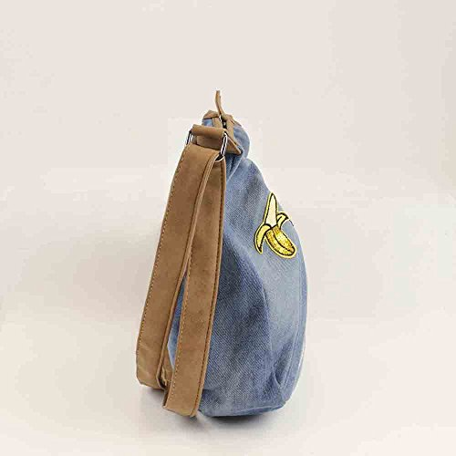 Bluebags con Bandolera Unica Vaquera Emojis Jeans para Mujer Bolso RrHRqwa