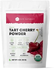 Organic Tart Cherry Powder by Kate Naturals. Natural & Gluten-Free. Delicious Vegan Powdered Tangy Cherries. Filled with Antioxidants & Essential Vitamins. Ideal for Baking, Cooking & Mixology. 4 oz.