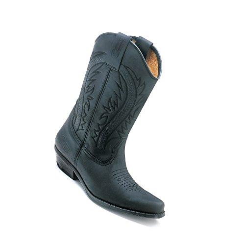 schwarz Boots 40 Westernstiefel Cowboystiefel Colorado Kochmann Lederstiefel Gr 6PXKq