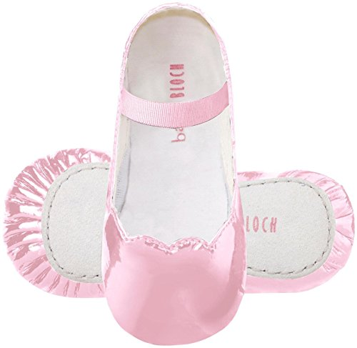 Bloch Scallop Ballerina Baby Flat, Lively Pink, 3 M US Infant (Bloch Infant Shoes)
