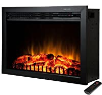 Freestanding Electric Fireplace Insert 2...