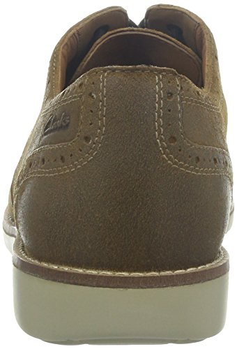 Clarks Raspin Brogue - Zapatos de cordones para hombre Tobacco Suede